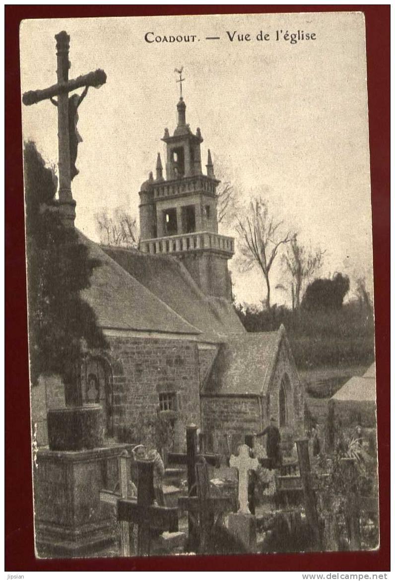 Cpa Du 22  Guingamp Coadout Vue De L' Eglise CA1 - Guingamp