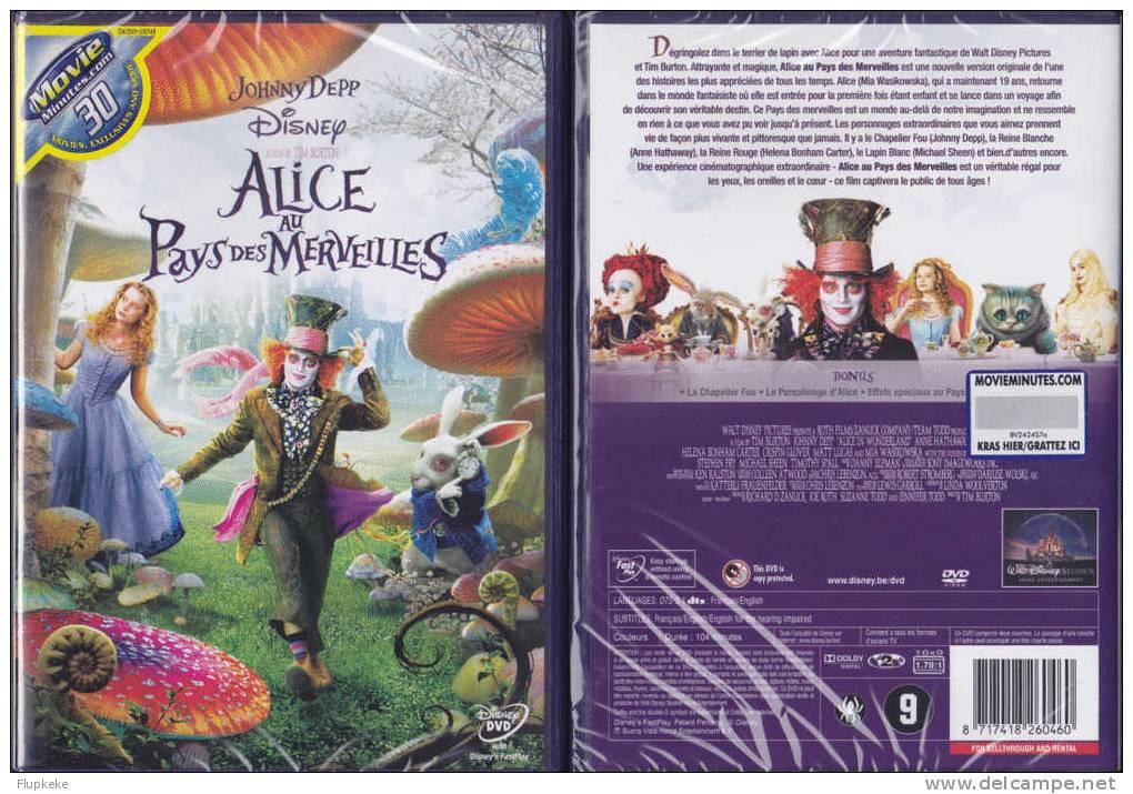Dvd Zone 2 Alice Au Pays Des Merveilles Vf + Vostf Neuf Et Scellé Tim Burton Johnny Depp Danny Elfman Walt Disney - Action, Aventure