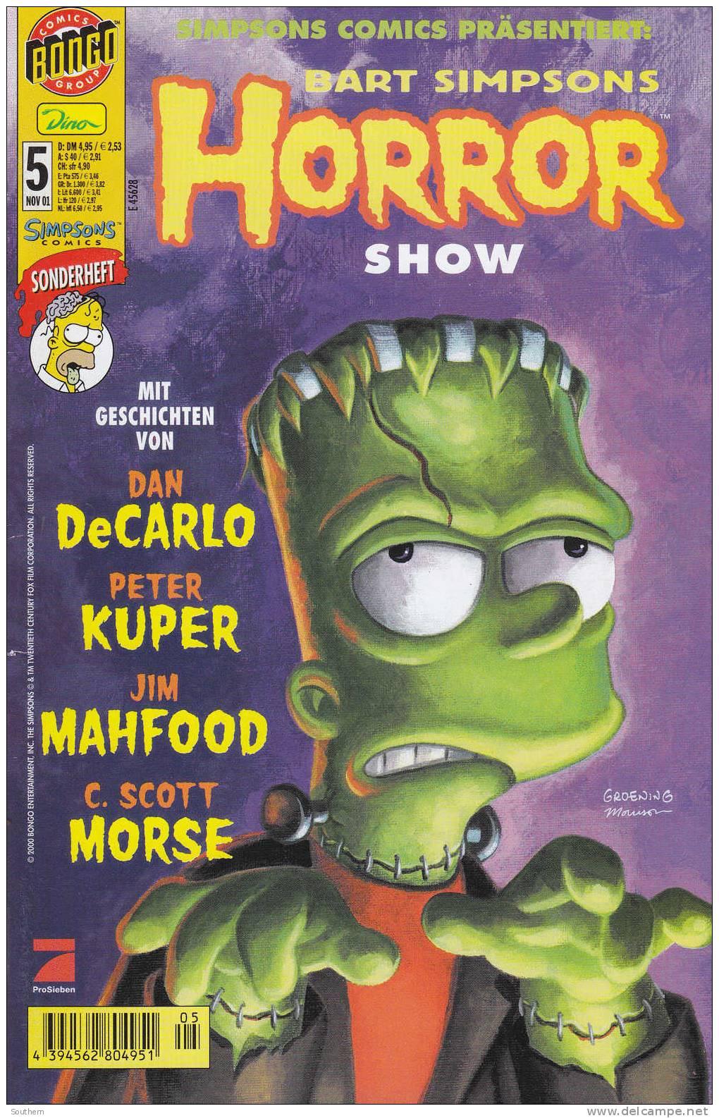 Bart Simpsons N° 5 - 11/2001 - Horror Show - Simpsons, Die