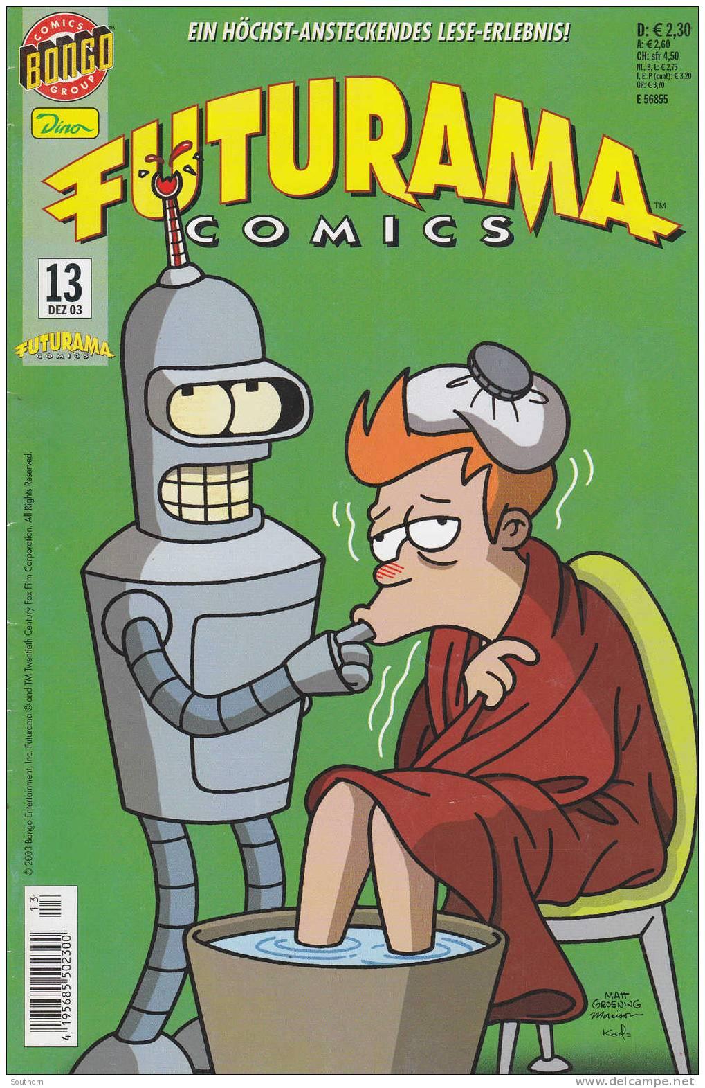 Bart Simpsons N° 13 - 12/ 2003 - Futurama Comics - Simpsons, Die