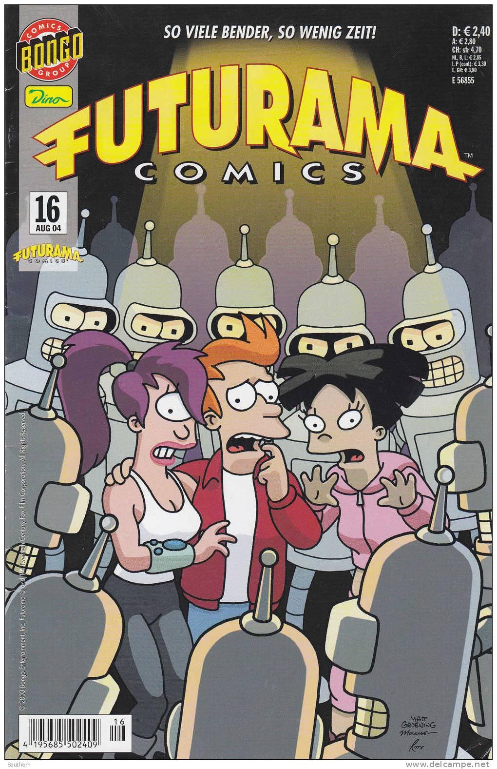 Bart Simpsons N° 16 - 08/2004 - Futuram Comics - So Viele Bender, So Wenig Zeit ! - - Simpsons, Die
