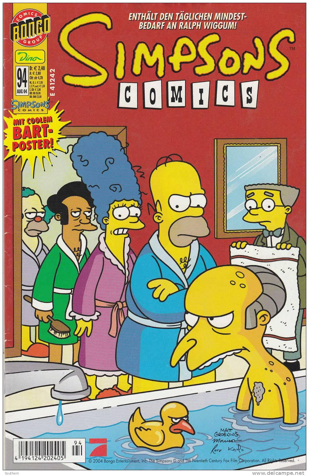 Bart Simpsons N°94 - 08/2004 - Simpsons Comics - Enthalt Den Taglichen Mindest-Bedarf An Ralph Wiggum ! - Simpsons, Die