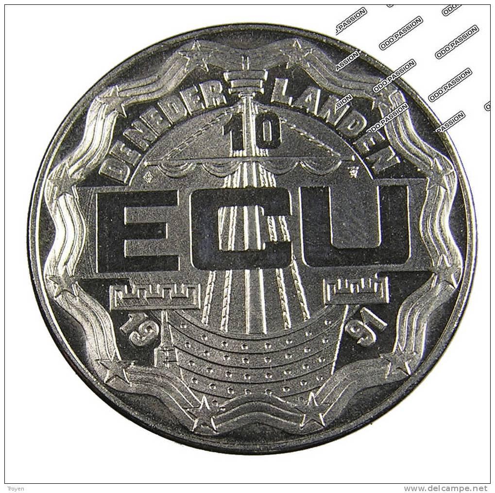 Hollande - 10 Ecu - 1991 - Cu.Ni - Sup - - [10] Collections