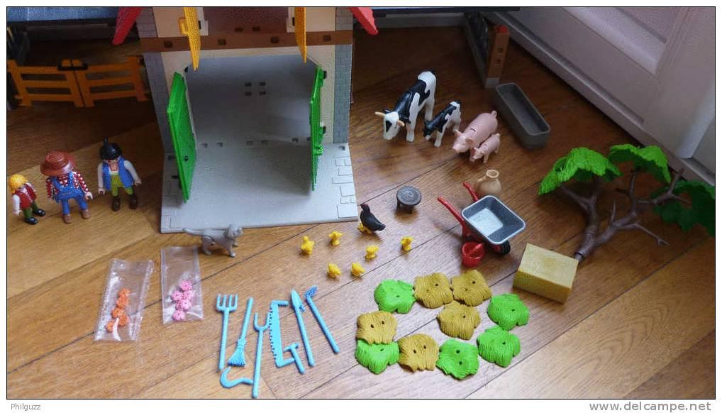 PLAYMOBIL  BOITE PRESQUE COMPLETE MAISON FERME EQUIVALENCE DE BOITE 4490  2005 - Playmobil