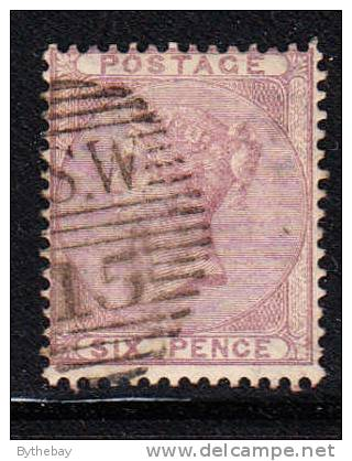 Great Britain Used Scott #27 6p Victoria - 1840-1901 (Victoria)