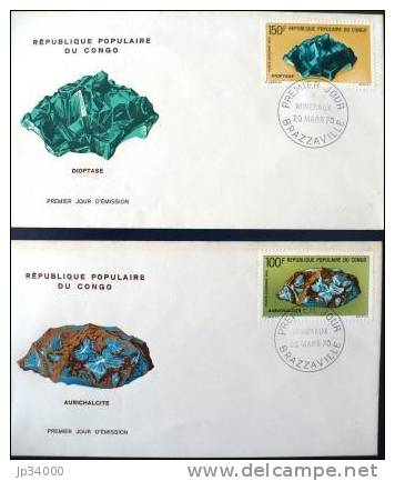 CONGO MINERAUX 2 FDC De 1970 - Minéraux