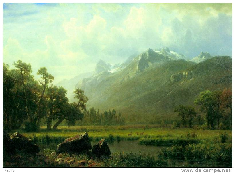 Art Print Reproduction On Original Painting Canvas, New Picture, Bierstadt, Sierra, Lake Tahoe, California - Prints & Engravings