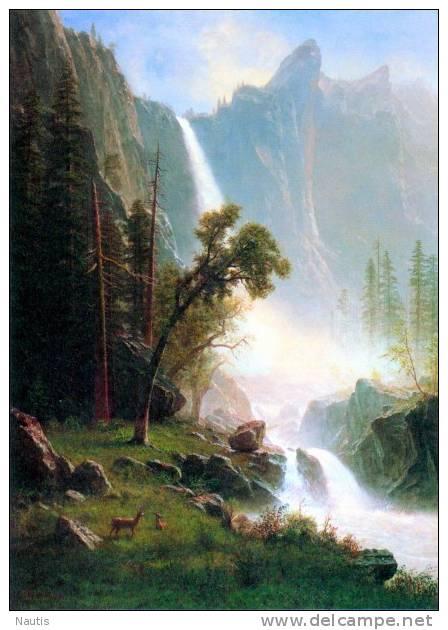 Art Print Reproduction On Original Painting Canvas, New Picture, Bierstadt, Yosemite Falls - Prints & Engravings