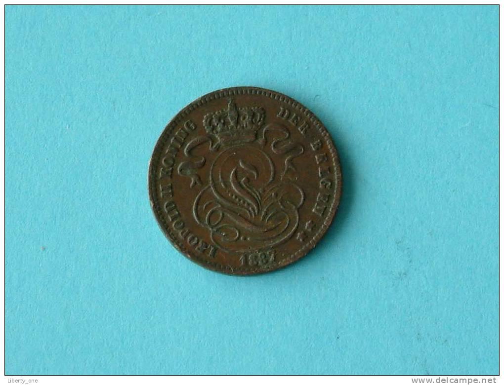 1887 VL - 1 Cent - Morin 226 ( For Grade, Please See Photo ) ! - 1865-1909: Leopold II