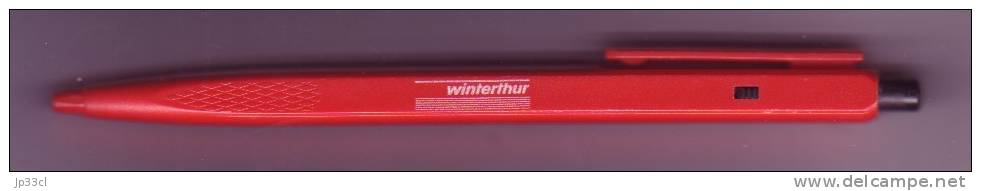 Assurances - Ancien Stylo Bille Publicitaire Winterthur - Stylos
