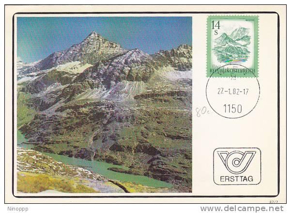 Austria 1982 Mountain  Maximum Card - Maximum Cards