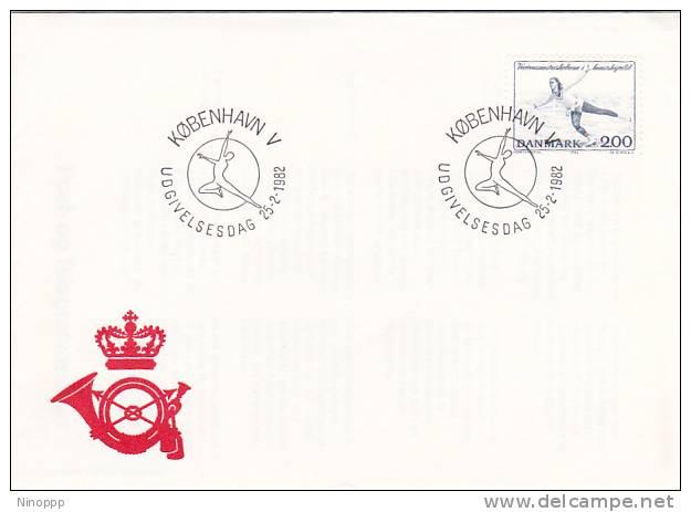 Denmark 1982 Ice Skating  Cover - Stamps