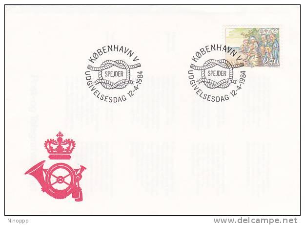 Denmark 1984 Scouts  Souvenir Cover - Scouting