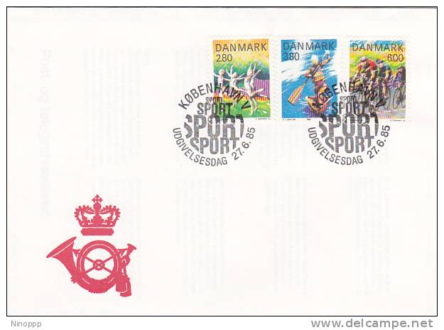 Denmark 1985 Sports FDC - Stamps