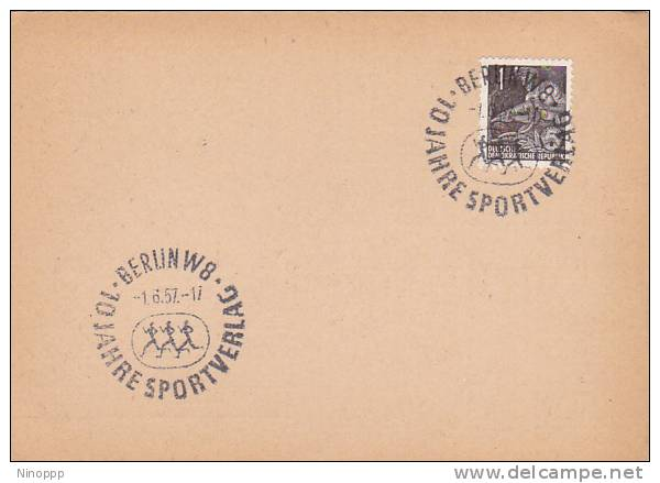 Germany DDR 1957 Sports  Souvenir Cover - Stamps