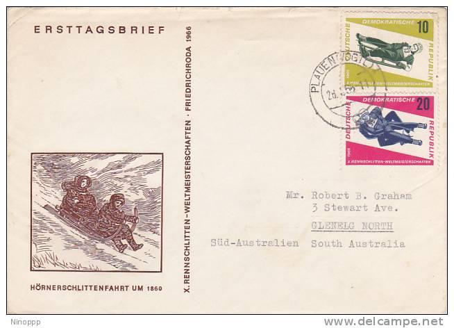 Germany DDR 1966 Sport Bob  Skiing  Souvenir Cover - Skiing