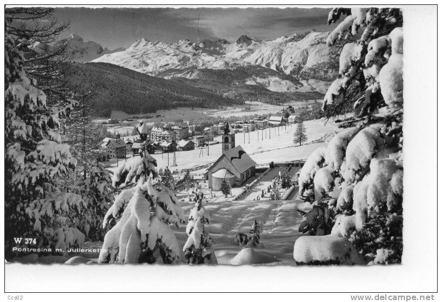 Pontresina Mit Julierkette Im Winter 1967 - GR Grisons