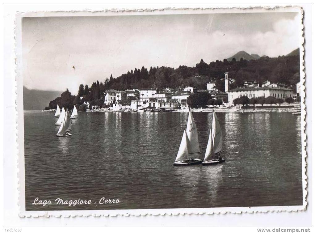 Cerro  --  Lago  Maggiore   Viaggiata  Anni  50  --  CON  VELE   REGATE--  RARA-- - Varese