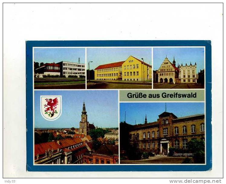 - ALLEMAGNE MECKLEMBOURG-POMERANIE OCCIDENTALE . GRÜSSE AUS GREIFSWALD . VUES MULTIPLES - Greifswald