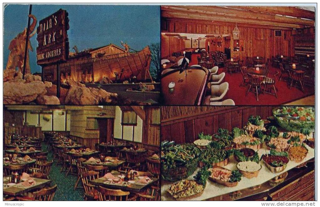 CPSM USA - Noah's Ark Restaurant - Fairlane Exit St Charles - St Charles