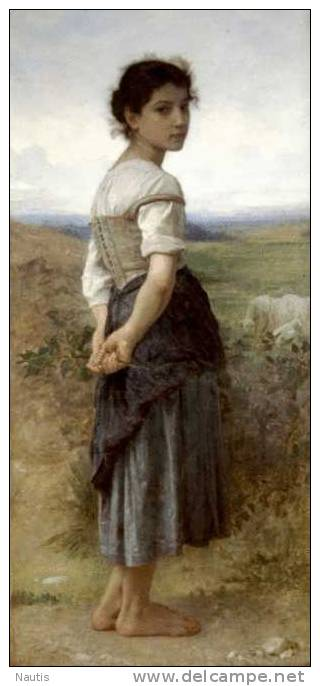 Art Print Reproduction On Original Painting Canvas, New Picture, Bouguereau, Young Shepherdess - Prints & Engravings