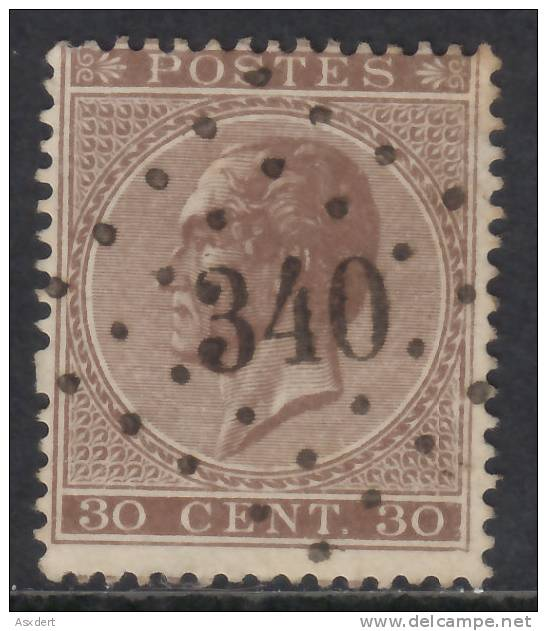 19A -  Lp.  340   SPA  -Coba +8  - T.B. / Z. M. - 1865-1866 Profil Gauche