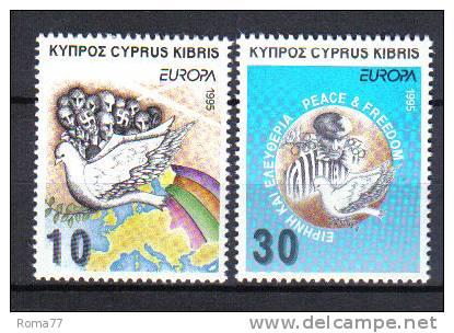 FRZ211 - CIPRO 1995, Serie N. 859/860  ***  Europa Cept - Cipro