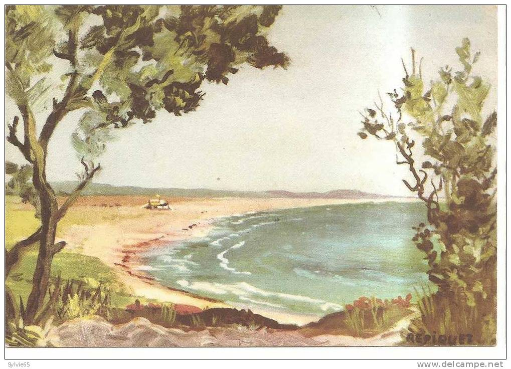 CPSM ILLUSTREE PAR REPIQUET-ILE D'OLERON-plage De VERT-BOIS - Ile D'Oléron