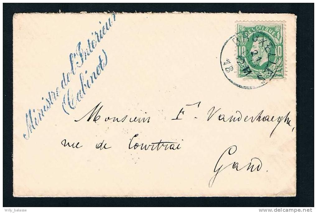 Belg Lettre 1850 Lettre Affr. N°30 Càd Bleu Bruxelles - 1869-1883 Léopold II