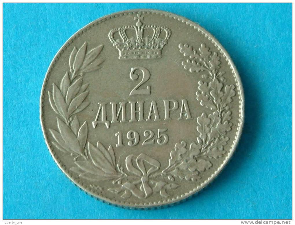 1925 - 2 DINARA / KM 6 ( For Grade, Please See Photo ) !! - Joegoslavië