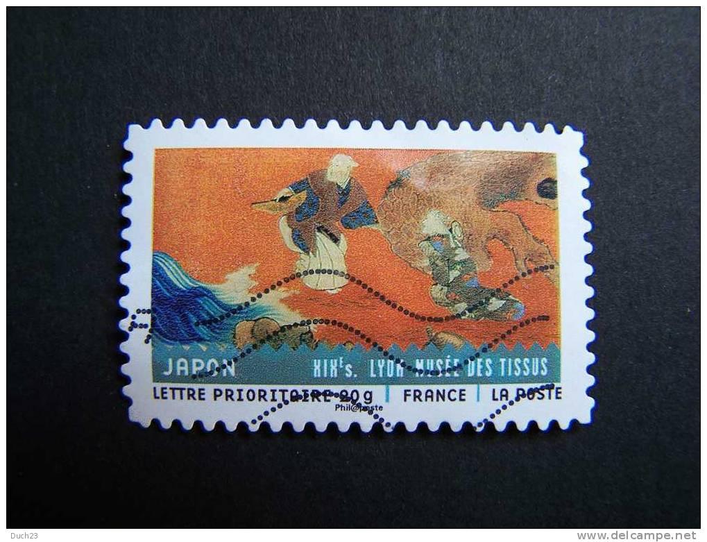 OBLITERE FRANCE ANNEE 2011 N° 520 SERIE TISSUS DU MONDE JAPON AUTOCOLLANT ADHESIF - France