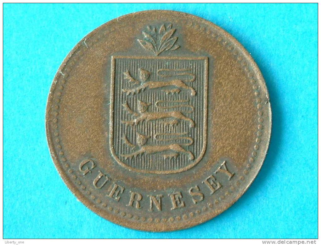 1918 H - 4 DOUBLES / KM 13 ( For Grade, Please See Photo ) ! - Guernesey