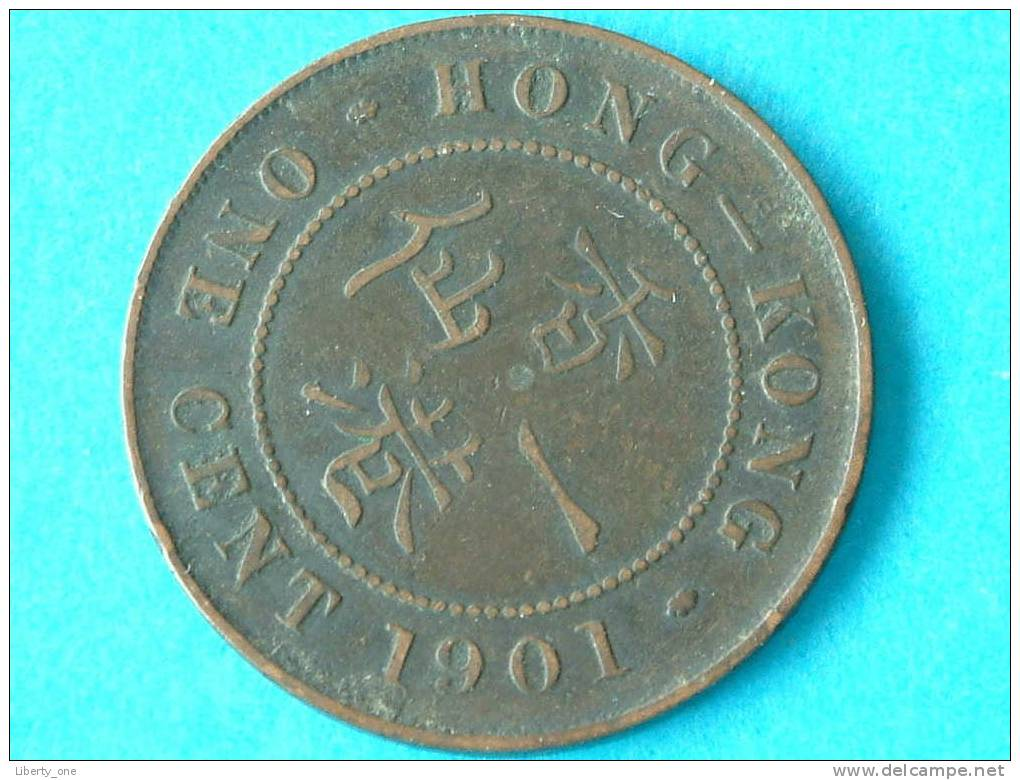 1901 H - ONE CENT - KM 4.3 ( For Grade, Please See Photo ) ! - Hong Kong