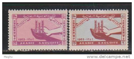 Saudi Arabia MNH 1963, 2v Freedom From Hunger - Arabie Saoudite