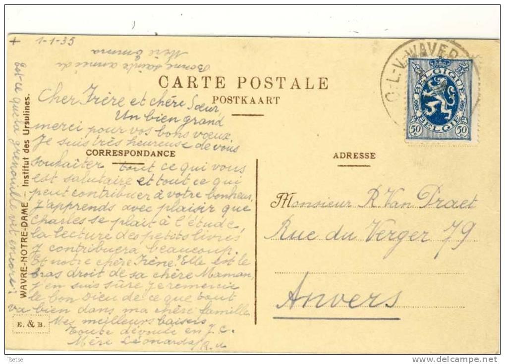 Sint-Katelijne-Waver / Wavre-Notre-Dame - Institut Des Ursulines -1935  ( Verso Zien ) - Sint-Katelijne-Waver