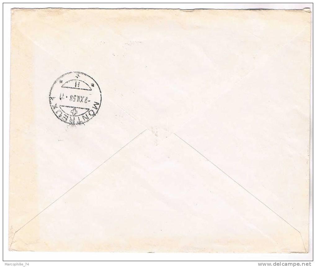 N°1130 X2 LETTRE REC ETIQUETTE PARIS 34 1956 / SUISSE - France