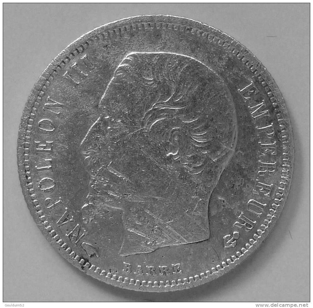 50 Centimes  1858 A  Napoléon III  Tête Nue - G. 50 Centesimi