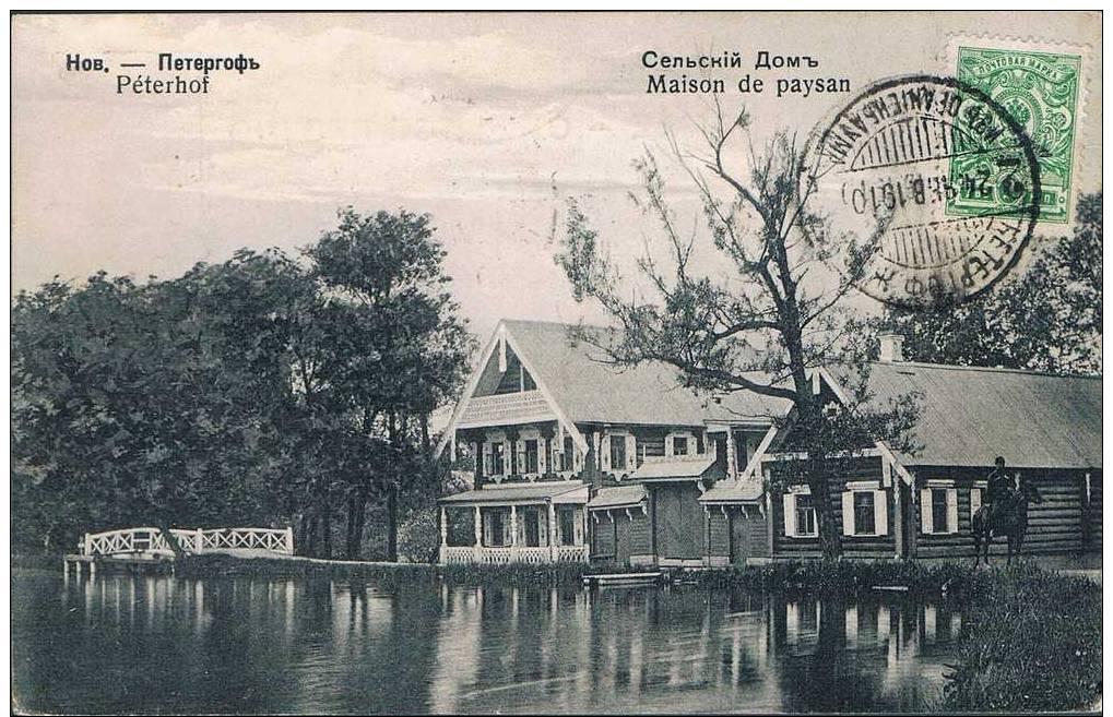 Carte Postale Ancienne - RUSSIE - Peterhof - Maison De Paysan - Rusia