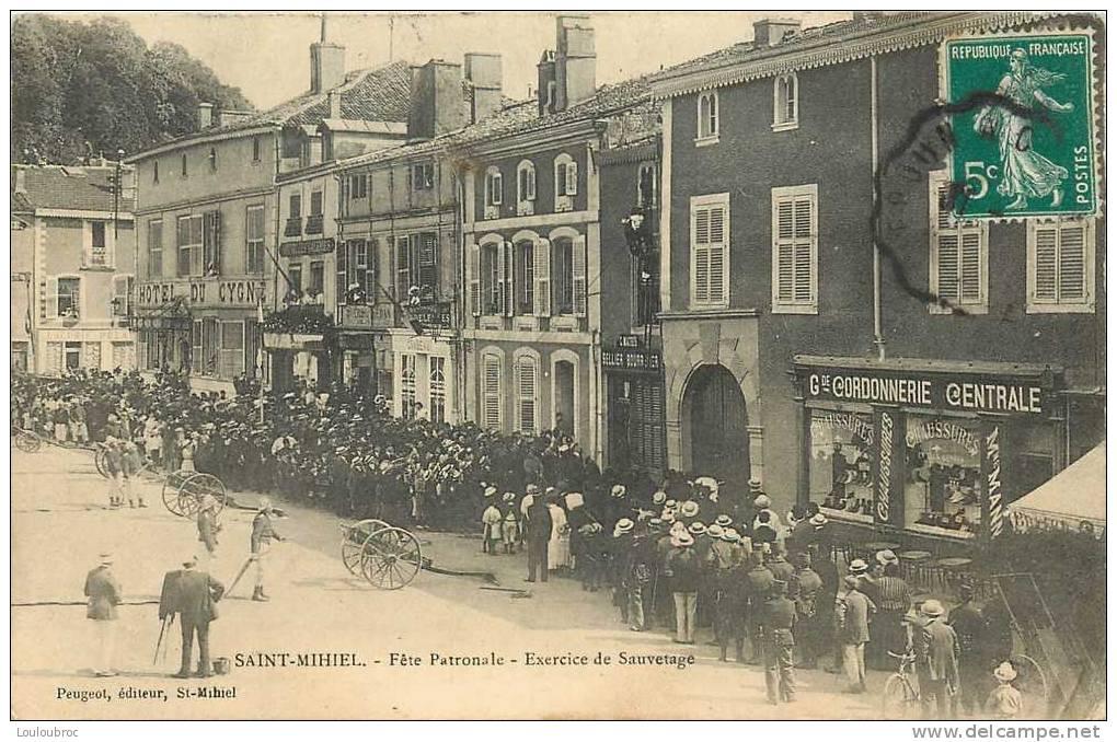 55 SAINT MIHIEL FETE PATRONALE LES POMPIERS EXERCICE DE SAUVETAGE - Saint Mihiel