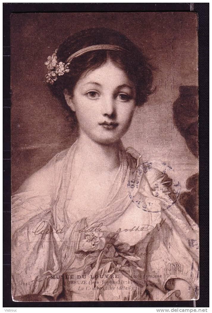 """GREUZE, Jean-Baptiste -  """" Détail De La Cruche Cassée """"  (2) - Circulé - Circulated - Gelaufen. - Peintures & Tableaux"""