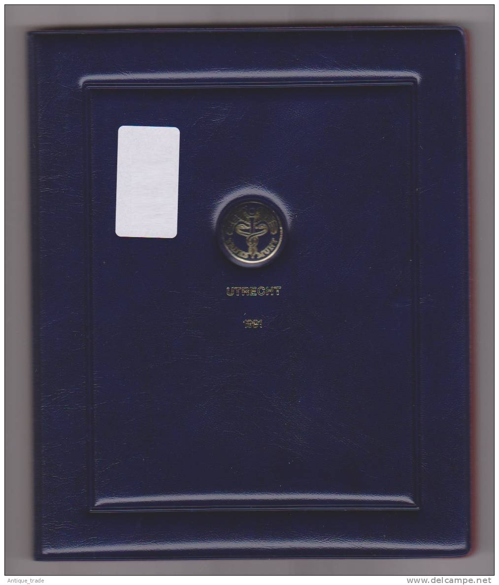 PAYS-BAS / NETHERLANDS : KM #PS37 -  6-coins & Medal Year Set (1991) PROOF In Official Folder - Pays-Bas