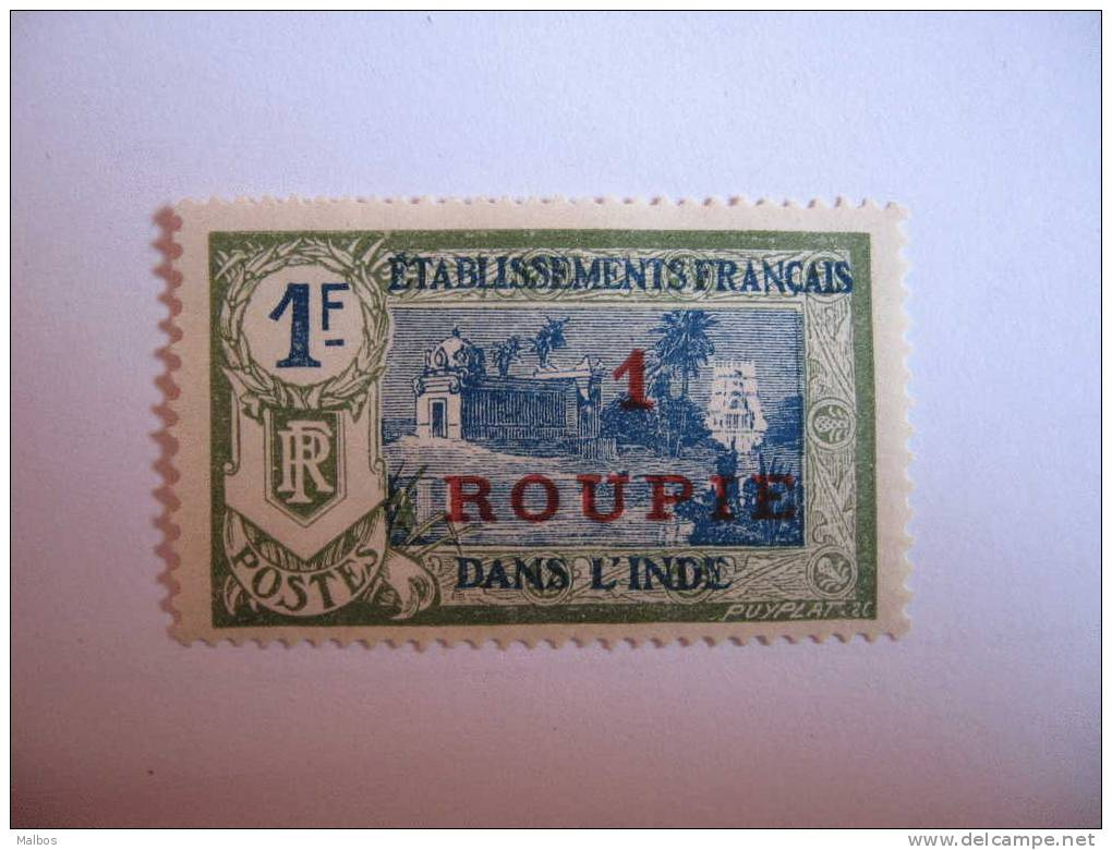 INDE Fr. 1923-26 (*)  Defect.  Y&T N° 75 Sans Gomme - Without Gum - India (1892-1954)