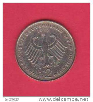 Deutsche Mark - 2 D-Mark - 1973G - K.Adenauer - Auflage 9 Mill. Zustand GUT - 2 Scan - - [ 7] 1949-… : FRG - Fed. Rep. Germany