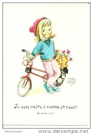 Mabel Lucie Attwell - Fille - Bicyclette - Kinder