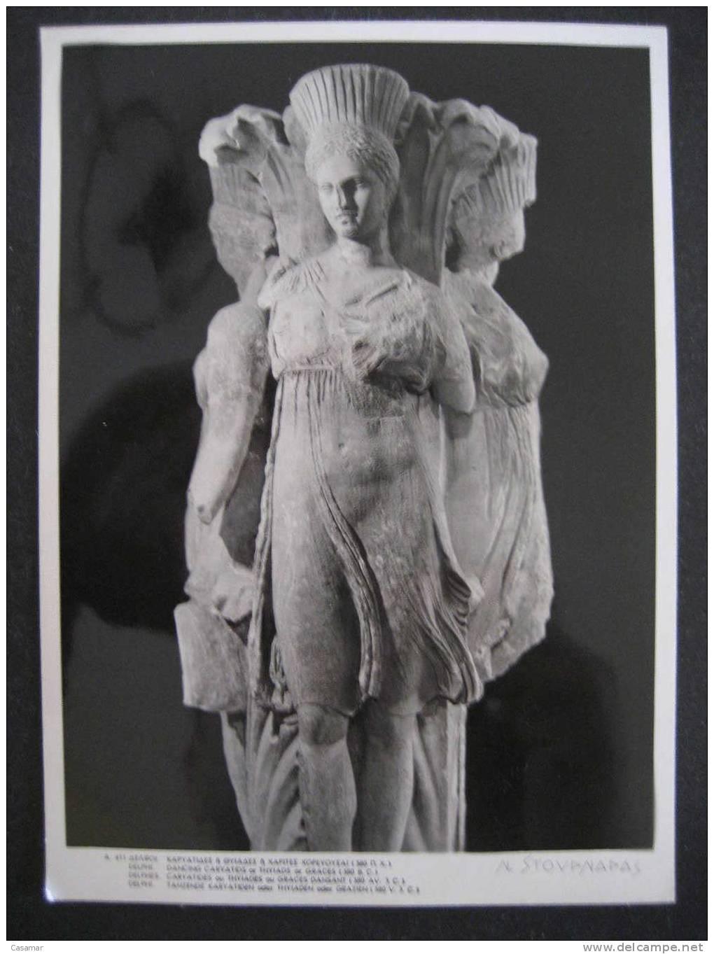 GREECE Delphi Dancing Caryatids Thyiads Graces Archeology Archeologie Prehistory Prehistoire Art Arqueologia Prehistoria - Historia