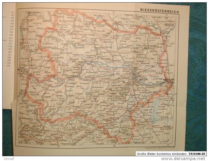 Wandern In Niederösterreich Hannes Klettner 1960, Map + 204 Seiten - Libri, Riviste, Fumetti