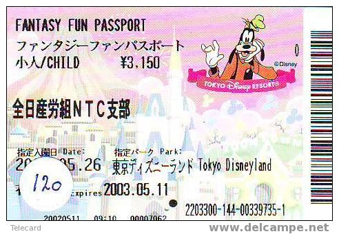 Disney Fast Pass Entreecard TOKYO DISNEYLAND SPECIAL GROUP ADULT Passport (120) - Disney