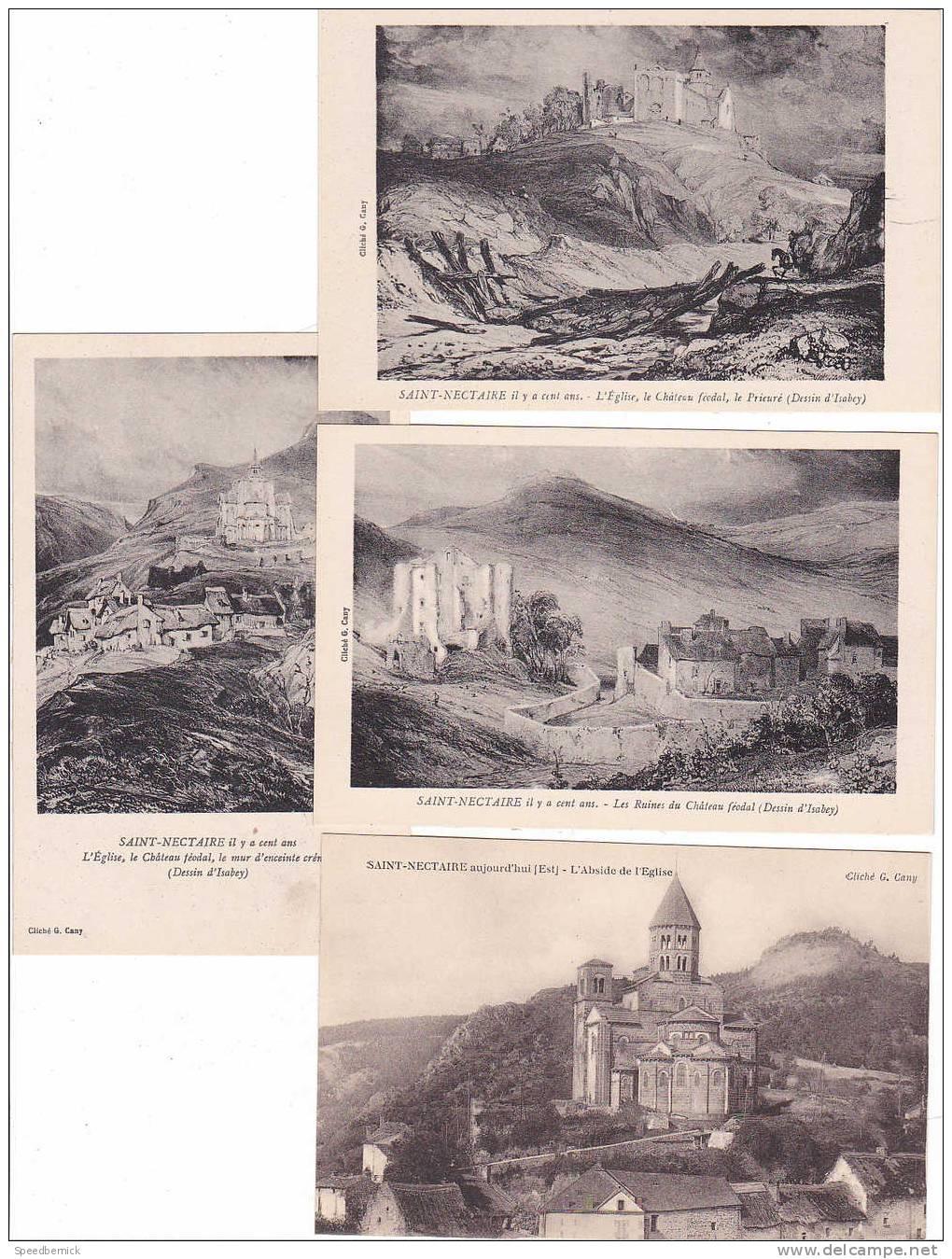 18027 Lot De 11 Cpa -cliché Cany, Sans N° ; Enveloppe Notre Dame Reliure Saint Baudime Croix, Il Y A 100 Ans, - Saint Nectaire