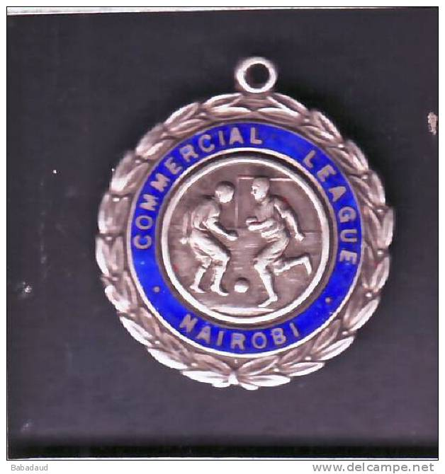 NAIROBI COMMERCIAL LEAGUE WINNER DIV1, 1953, Hall Marked Silver Medal, Birmingham 1952. - Apparel, Souvenirs & Other