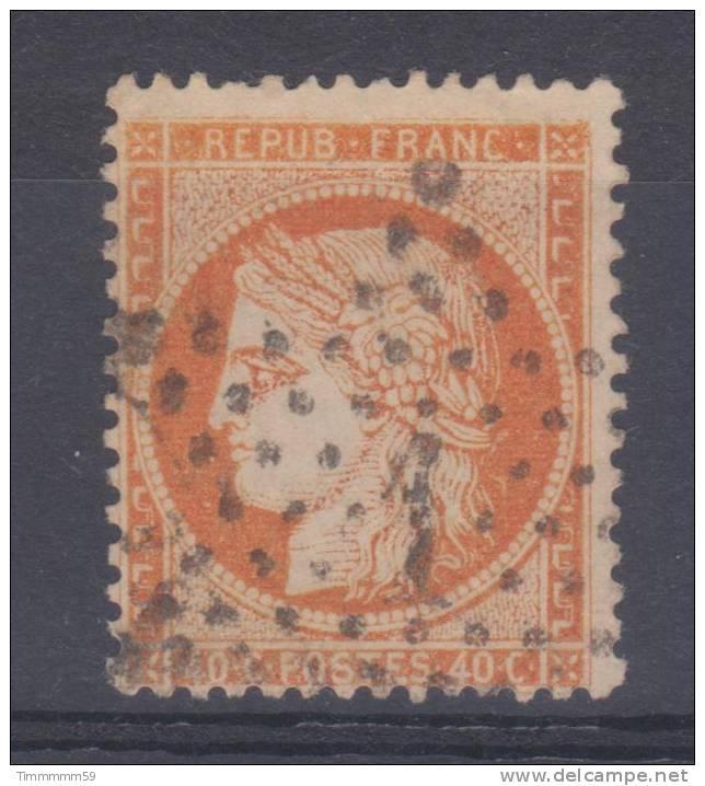 Lot N°14319 Variété/n°38, Oblit étoile Chiffrée 1 De PARIS (Pl. De La Bourse), Fond Ligné, Gréque NORD EST - 1870 Siege Of Paris